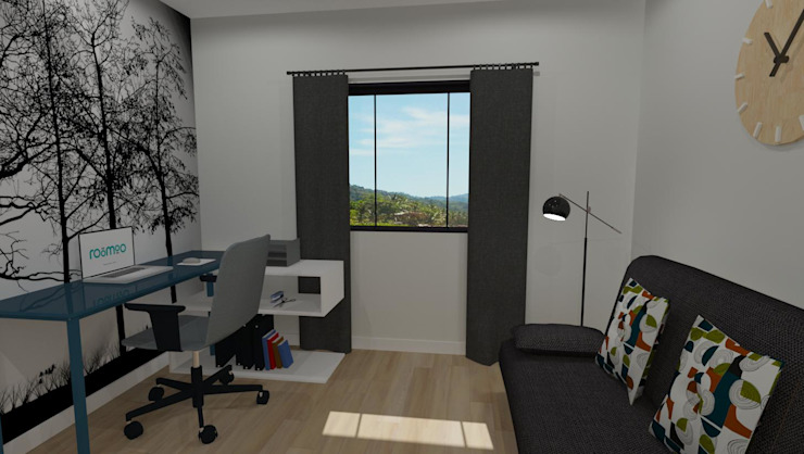 3D Rendered Study by RooMoo Modern