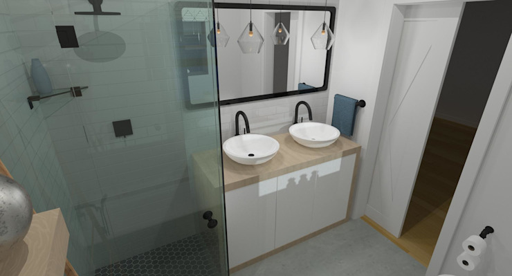3D Render of Bathroom Design by RooMoo