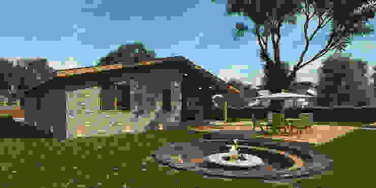 Лега. Дом в стиле кантри от AprioriAlbero Кантри Дерево Эффект древесины