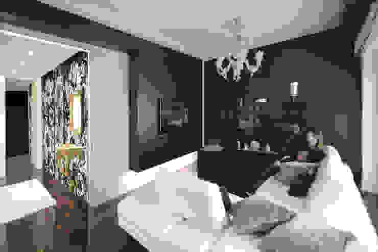 il soggiorno Ingresso, Corridoio & Scale in stile moderno di Altro_Studio Moderno Legno Effetto legno