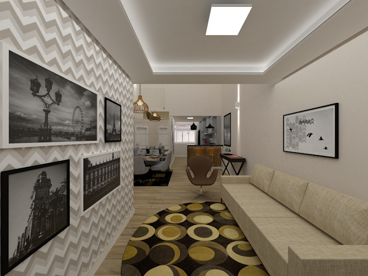 Sala / Entrada por Danilo Rodrigues Arquitetura Moderno