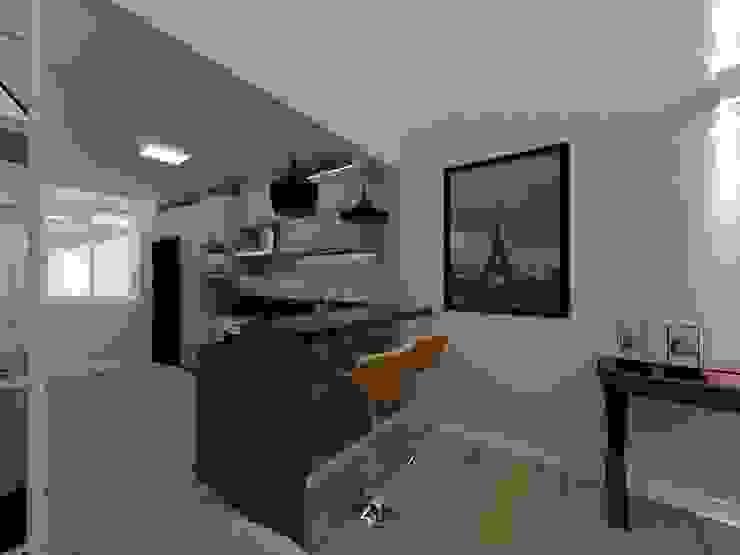 Cozinha Integrada por Danilo Rodrigues Arquitetura Moderno