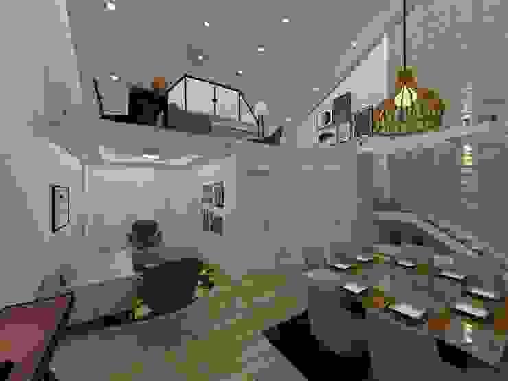 Sala Jantar pé direito alto Salas de jantar modernas por Danilo Rodrigues Arquitetura Moderno