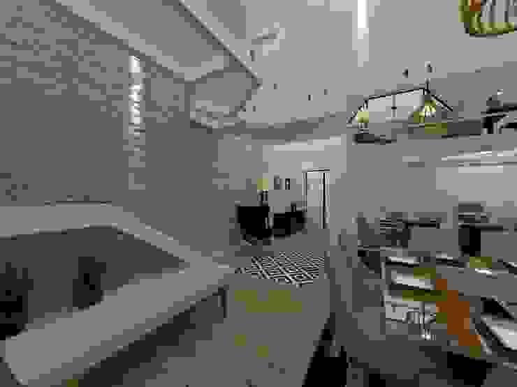 Passarela Salas de estar modernas por Danilo Rodrigues Arquitetura Moderno