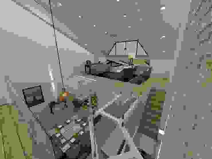 Mezanino e passarela Salas de estar modernas por Danilo Rodrigues Arquitetura Moderno
