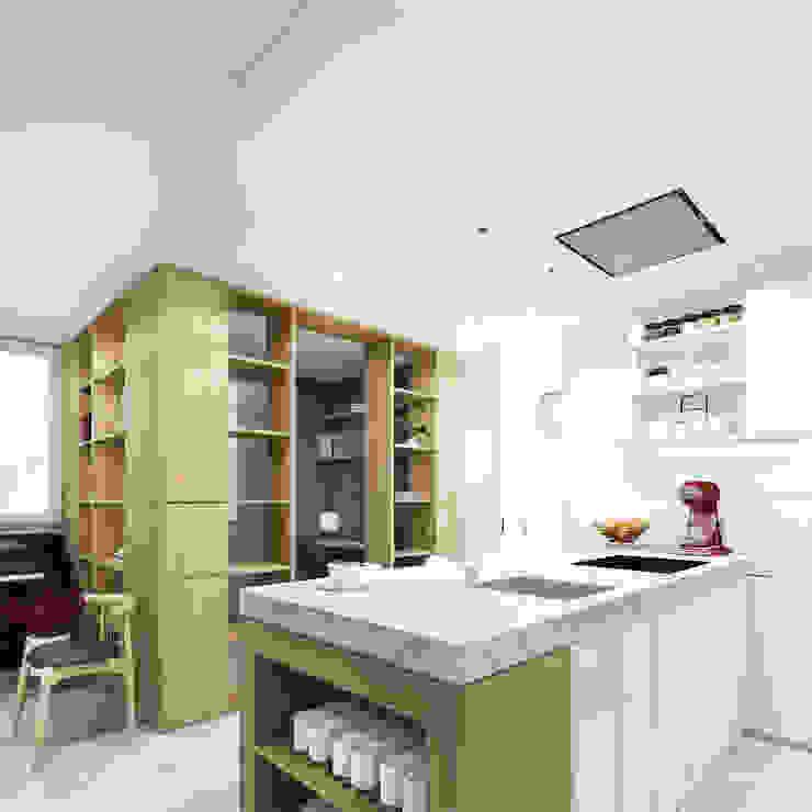 1703 - Apartamento C HOA Architecture and Design Cocinas de estilo moderno