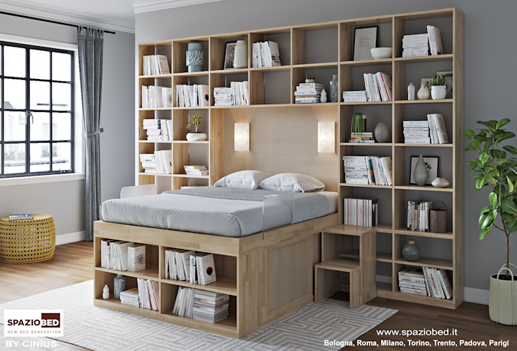 cinius s.r.l. BedroomBeds & headboards Solid Wood