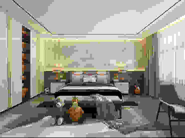 2BHK Project Juhu Modern style bedroom by Rebel Designs Modern Plastic