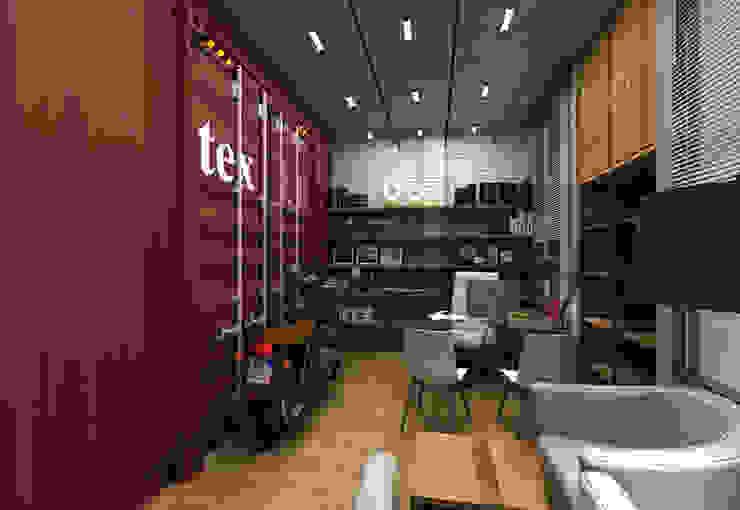 Personalisasi ruang kerja unimony.id Kantor & Toko Gaya Industrial