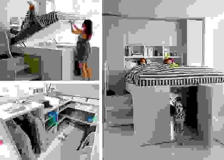 Letto a soppalco Camera da letto moderna di L&M design di Marelli Cinzia Moderno Legno composito Trasparente