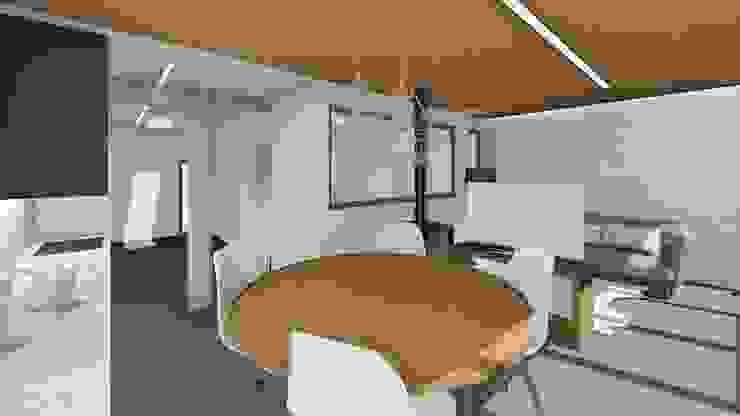 Vista de la habitación desde el salón. Salones de estilo minimalista de Barreres del Mundo Architects. Arquitectos e interioristas en Valencia. Minimalista