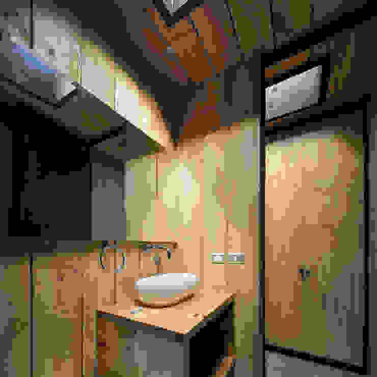 Casa FS Baños de estilo minimalista de Estudio Dikenstein arquitectos Minimalista Madera Acabado en madera
