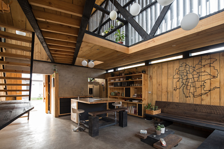 Casa FS Comedores de estilo minimalista de Estudio Dikenstein arquitectos Minimalista Madera Acabado en madera