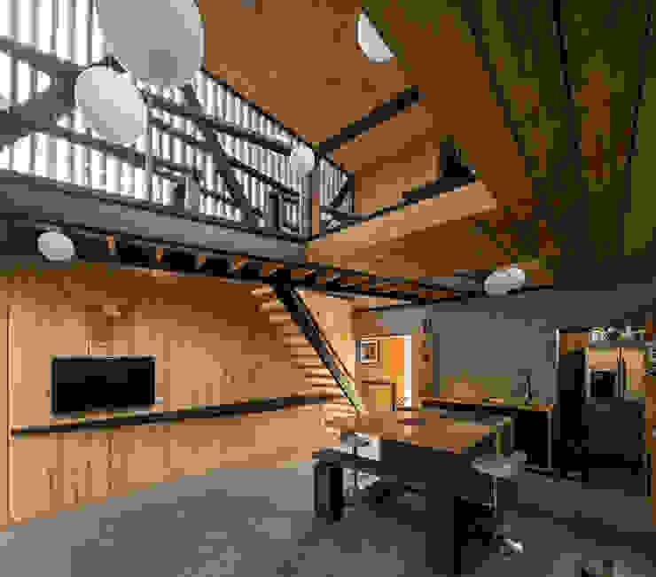 Casa FS Cocinas de estilo minimalista de Estudio Dikenstein arquitectos Minimalista Madera Acabado en madera