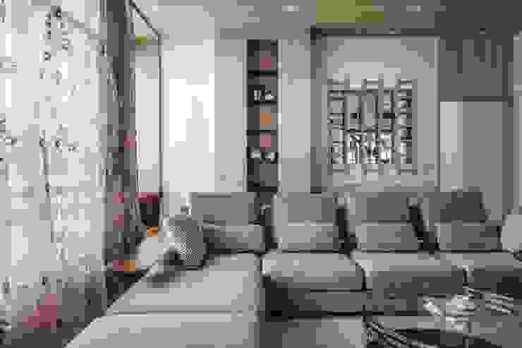 斗六曾公館 现代客厅設計點子、靈感 & 圖片 根據 大漢創研室內裝修設計有限公司 現代風