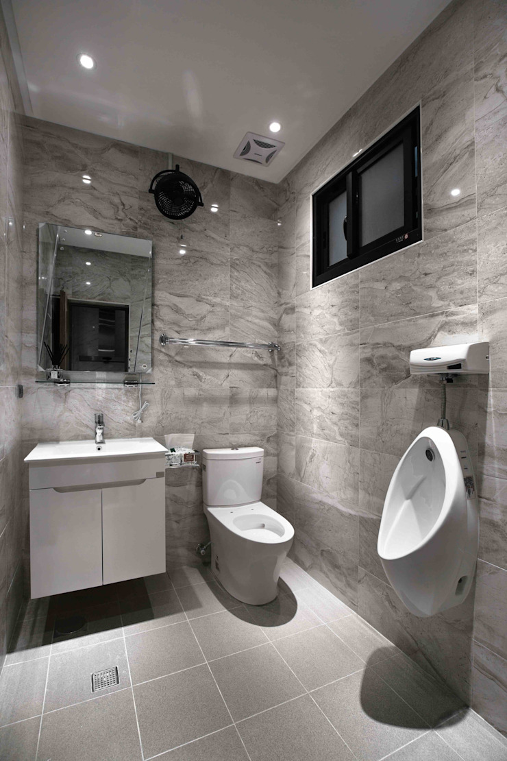 聖德天韻吳公館 現代浴室設計點子、靈感&圖片 根據 大漢創研室內裝修設計有限公司 現代風