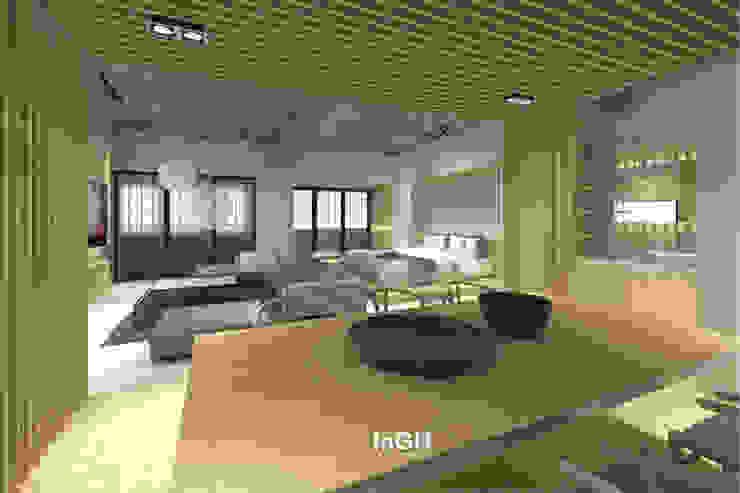 TJK : งานออกแบบภายในสไตล์ Japanese Loft: เอเชีย  โดย InGH Architects co.,ltd (บจก.อินจีเอช สถาปนิก), เอเชียน