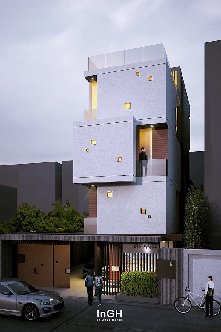 G3H : 4 story House โดย InGH Architects co.,ltd (บจก.อินจีเอช สถาปนิก)