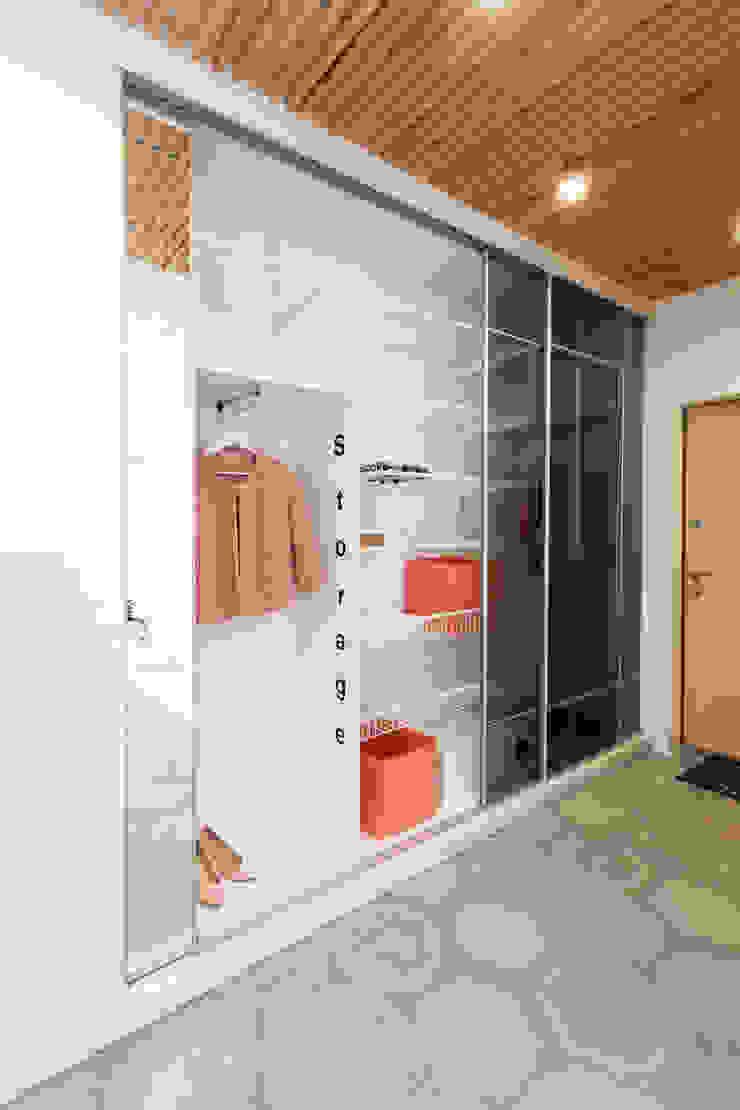 SAZONOVA group Scandinavian style dressing room