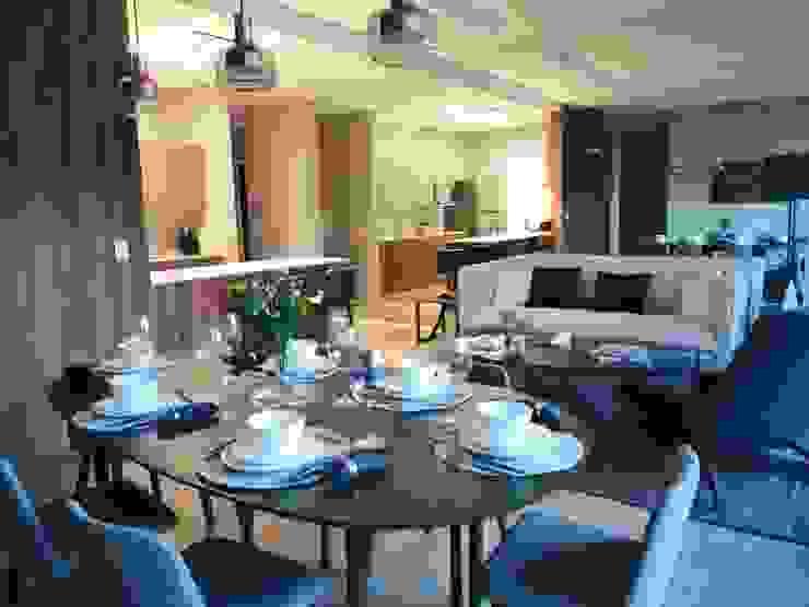 VillaSi Construcciones Sala da pranzo moderna