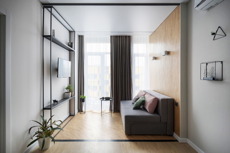 SAZONOVA group Industrial style living room