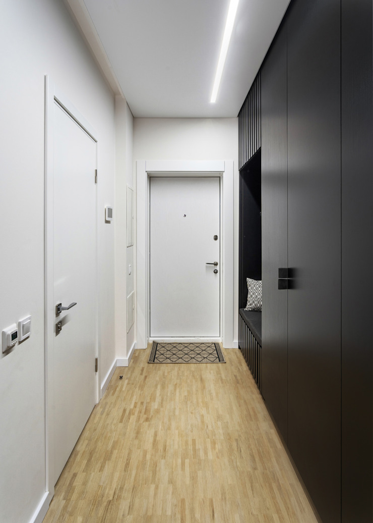 SAZONOVA group Industrial style corridor, hallway and stairs