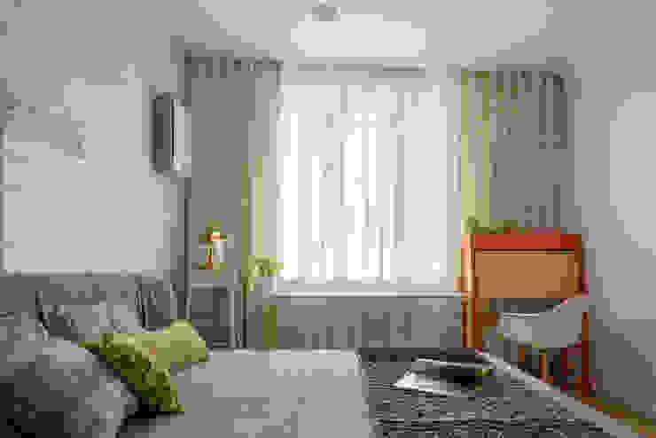 "<q class=""-first"">Forever young</q>. White Cozy Home. SAZONOVA group Спальня в скандинавском стиле"