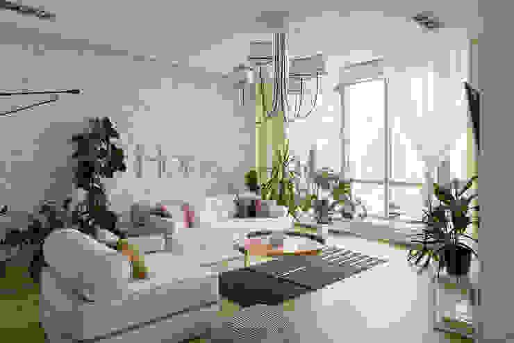 "<q class=""-first"">Forever young</q>. White Cozy Home. SAZONOVA group Гостиная в скандинавском стиле"