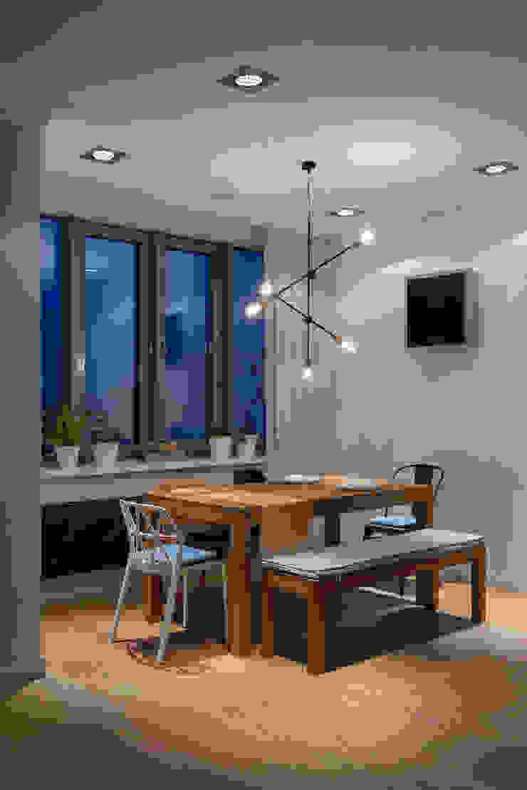 """<q class=""""-first"""">Forever young</q>. White Cozy Home. SAZONOVA group Столовая комната в скандинавском стиле"""