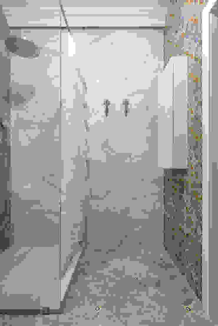"<q class=""-first"">Forever young</q>. White Cozy Home. SAZONOVA group Ванная комната в скандинавском стиле"