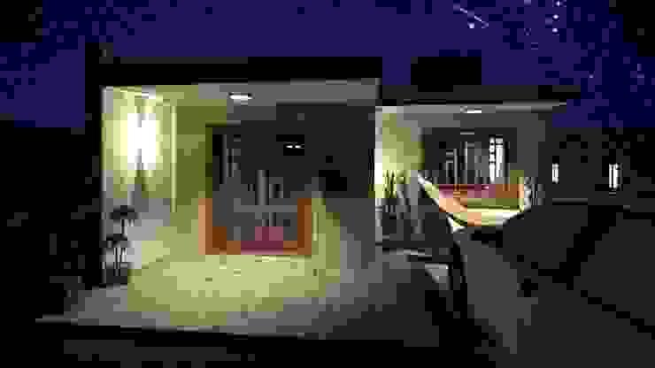 Casa Samambaia por Graziela Alessio Arquitetura Moderno Madeira Efeito de madeira