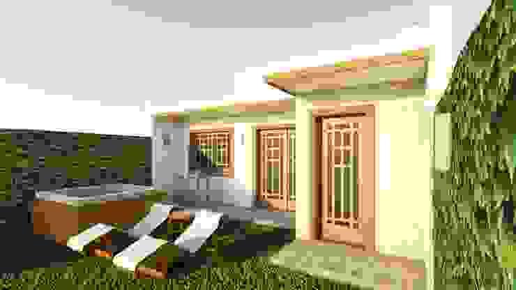 Casa Samambaia por Graziela Alessio Arquitetura Eclético Pedra
