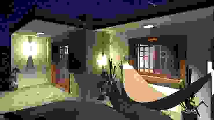 Casa Samambaia por Graziela Alessio Arquitetura Moderno Pedra