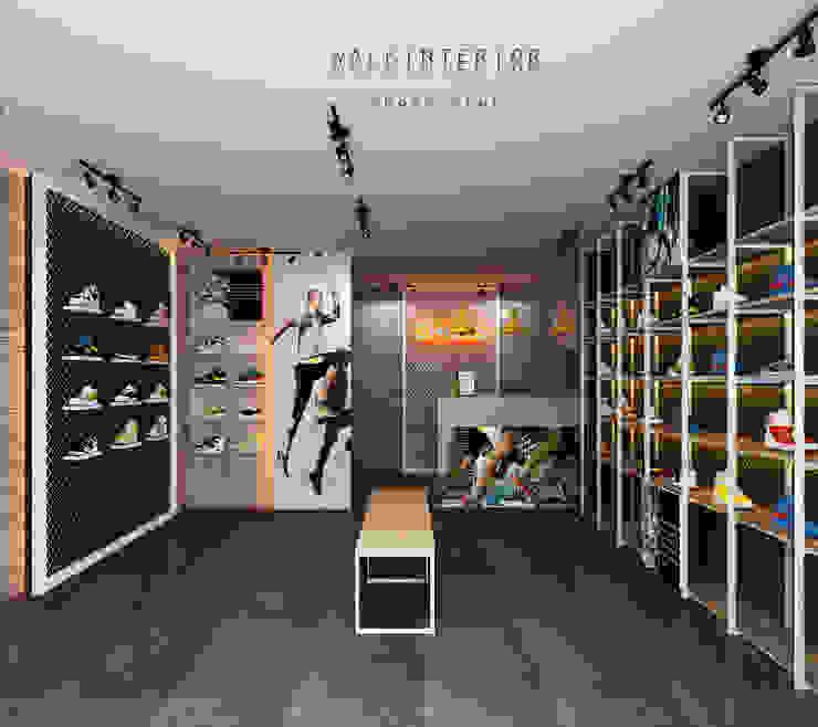 shoes shop walkinterior ตกแต่งภายใน เหล็ก Metallic/Silver