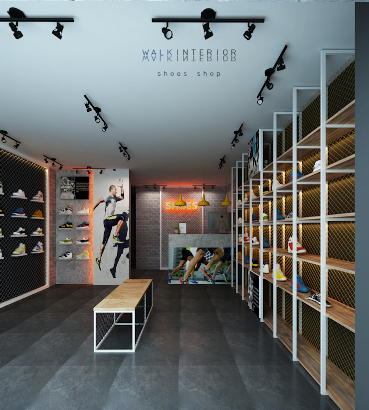 shoes shop walkinterior ตกแต่งภายใน เหล็ก