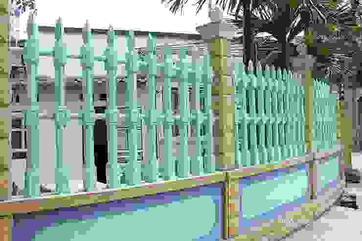 Bilico hoàn thành công trình hàng rào cho biệt thự gia đình bác Bắc tại Bắc Giang Tường & sàn phong cách hiện đại bởi Hàng rào ly tâm Bilico Hiện đại Bê tông