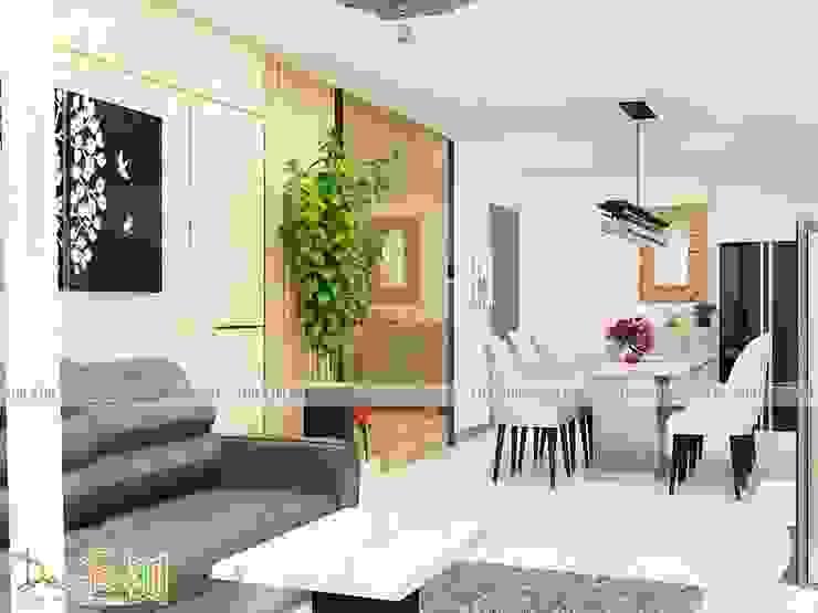 Thiết Kế thi công căn hộ chung cư hà dô - quận 10 - Nội Thất Funi: hiện đại  by Công ty TNHH Funi, Hiện đại