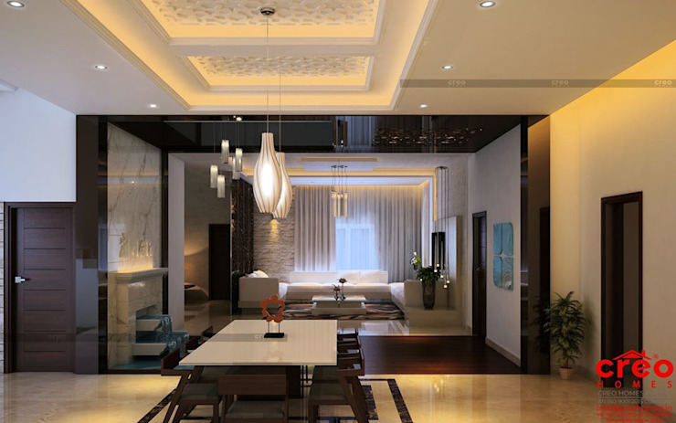 Professional Architect firms in Cochin Asian style dining room by Creo Homes Pvt Ltd Asian