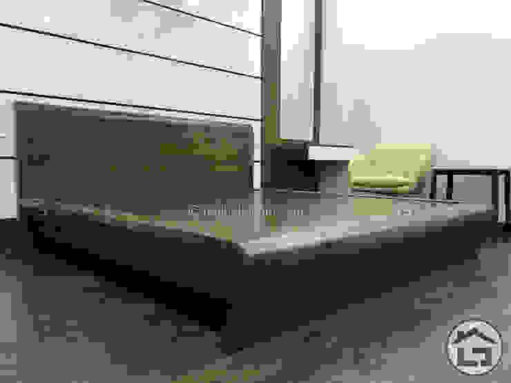 DỰ ÁN THIẾT KẾ NỘI THẤT BIỆT THỰ NHÀ CHỊ NA: hiện đại  by Nội Thất Xhome, Hiện đại Gỗ Wood effect