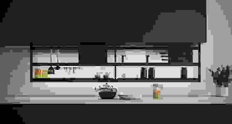 Hang 180 cm Cucina moderna di Damiano Latini srl Moderno Alluminio / Zinco