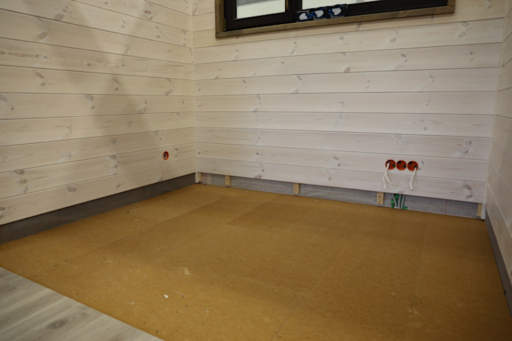 Fußbodenaufbau von THULE Blockhaus GmbH - Ihr Fertigbausatz für ein Holzhaus Minimalistisch