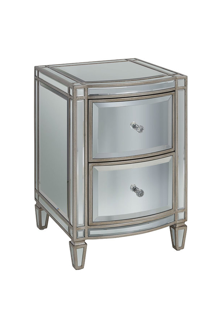 Antoinette Toughened Mirror Bedside Table by My Furniture