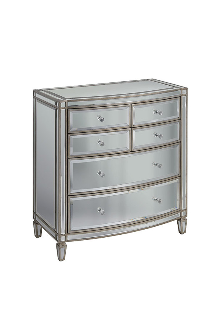 Antoinette Toughened Mirror Chest Of Drawers by My Furniture