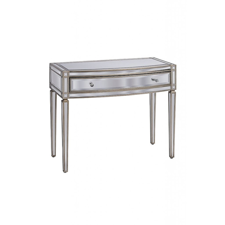 Antoinette Toughened Mirror One Drawer Console Table by My Furniture