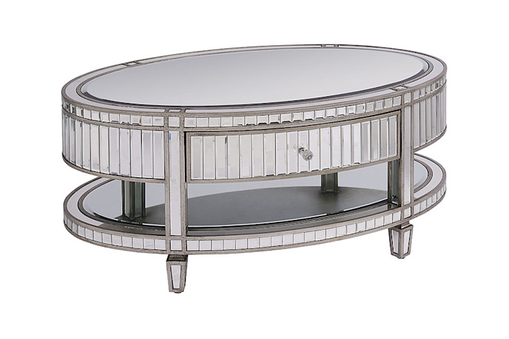 Antoinette Toughened Mirror Coffee Table by My Furniture