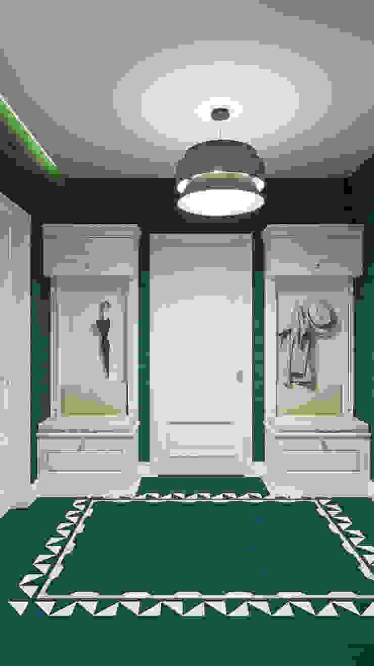 Couloir, entrée, escaliers originaux par Дизайн студия Алёны Чекалиной Éclectique