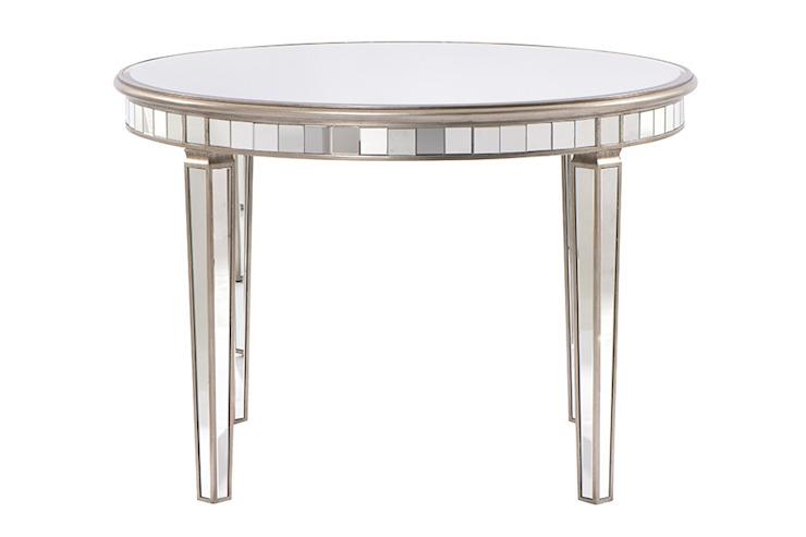 Antoinette Toughened Mirror Circular Dining Table by My Furniture