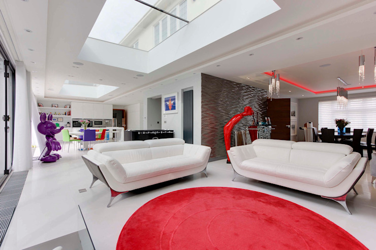 Totteridge N20 modern extension and full refurbishment Compass Design & Build Modern living room