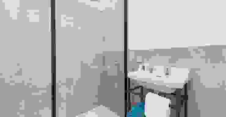 Reforma Hotel Cala San Vicente. Baño Baños de estilo escandinavo de FOCUS Arquitectura Escandinavo Azulejos