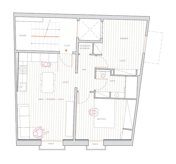 Esteve Arquitectes Rumah keluarga besar Kayu Wood effect